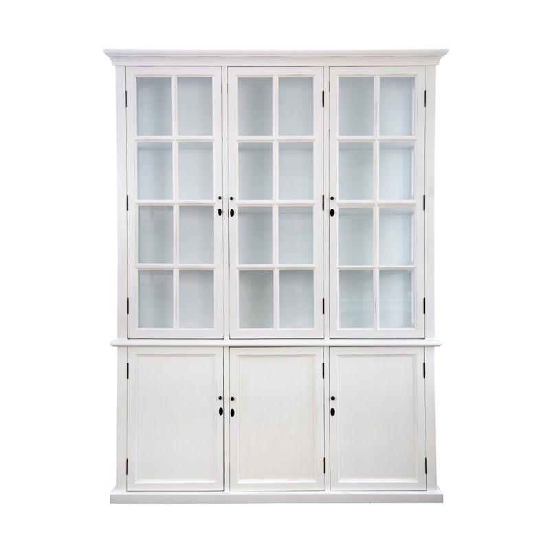 toulouse triple display cabinet white equator homewares. Black Bedroom Furniture Sets. Home Design Ideas