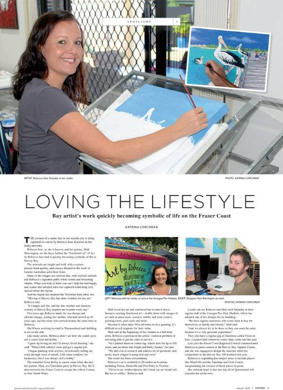 August 2017 Life & Style Magazine, Fraser Coast Chronicle, Article