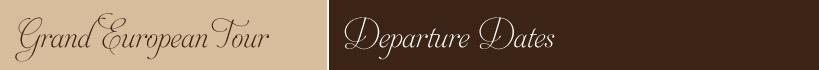 Tour Departure Dates