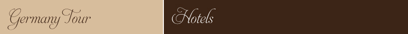 Germany Tour Hotels